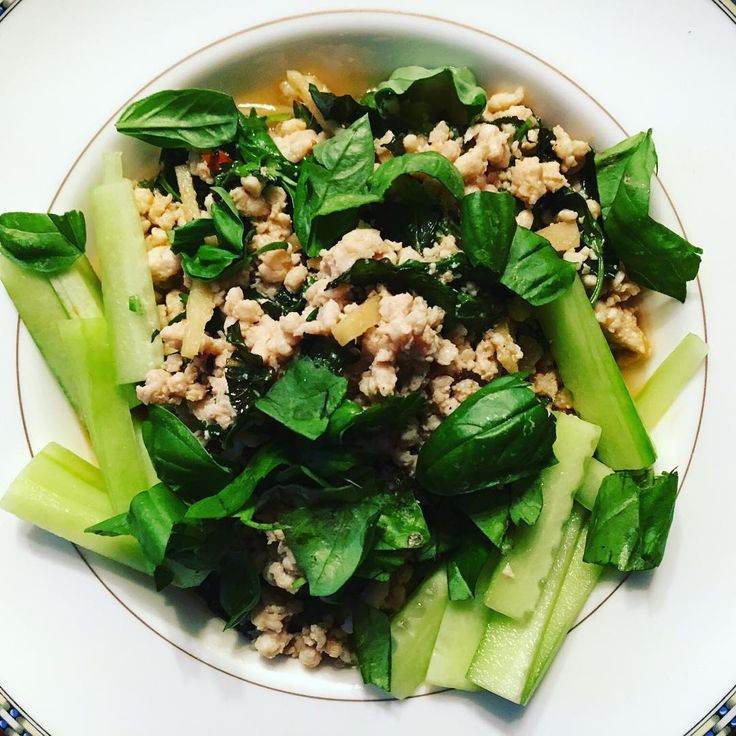 Simple, fresh, Vietnamese inspired pork with cucumber and basil #Vietnamese #vietnamesefood #kitchenswithoutboundaries