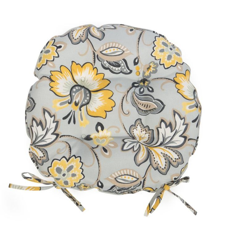 round bistro outdoor seat cushion set of 2 paisley