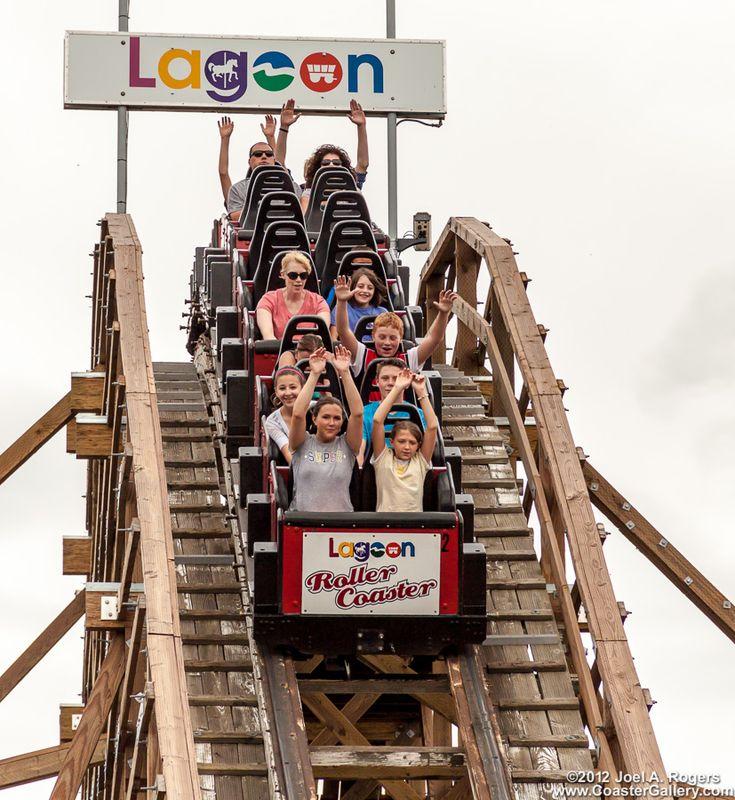 skyride at Lagoon in Utah | Roller Coaster at Lagoon park near Salt Lake City, Utah
