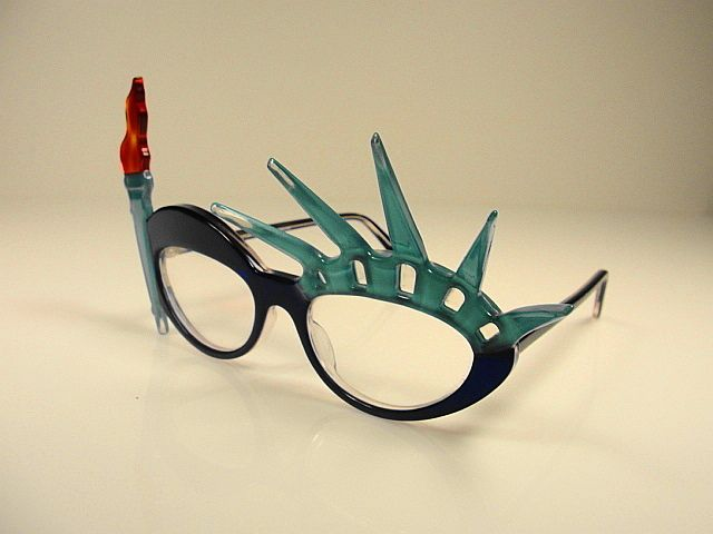 Vintage Anglo American Statue of Liberty Fantasy Collection- Anglo American Fantasy Collection Mask circa 1970's this piece is  just a work of art. Anglo American has been making eyewear since 1882 they are Handmade in England and this vintage eyeglass is in MINT condition