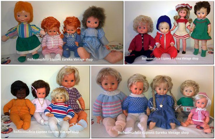 Πολλές κούκλες από διάφορες δεκαετίες όλες σε πολύ καλή κατάσταση.  Διαβάστε περισσότερα: http://www.eurekashop.gr/2015/02/blog-post_23.html#ixzz3Say3rMWB