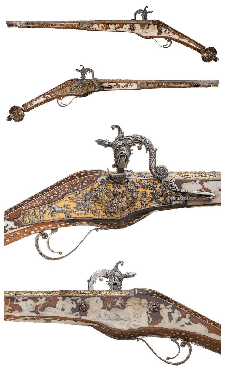 A truly magnificent wheel-lock pistol crafted by Daniel Sadeler, Royal gunmaker to the Duke of Bavaria. Circa 1605.