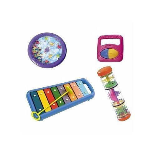 Halilit Baby Little Hands Music Band Gift Set - www.totswarehouse.com   Let your child explore and create music with this fun musical band set from Halilit.  The set contains 4 different colourful musical instruments including:      Xylophone     Ocean Drum     Rattle Roller     Rainbow spinner  Suitable from 12 months.  #baby #music #toys