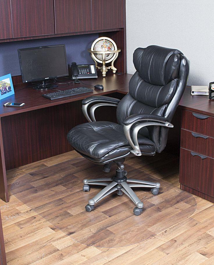 Evolve Modern Rectangle Office Hard Floor Beveled Edge Chair Mat