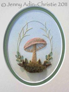 Woodland Mushroom stumpwork kit - Jenny Adin-Christie Specialist Embroiderer