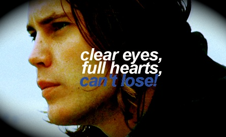 tim riggins clear eyes full heart can't lose