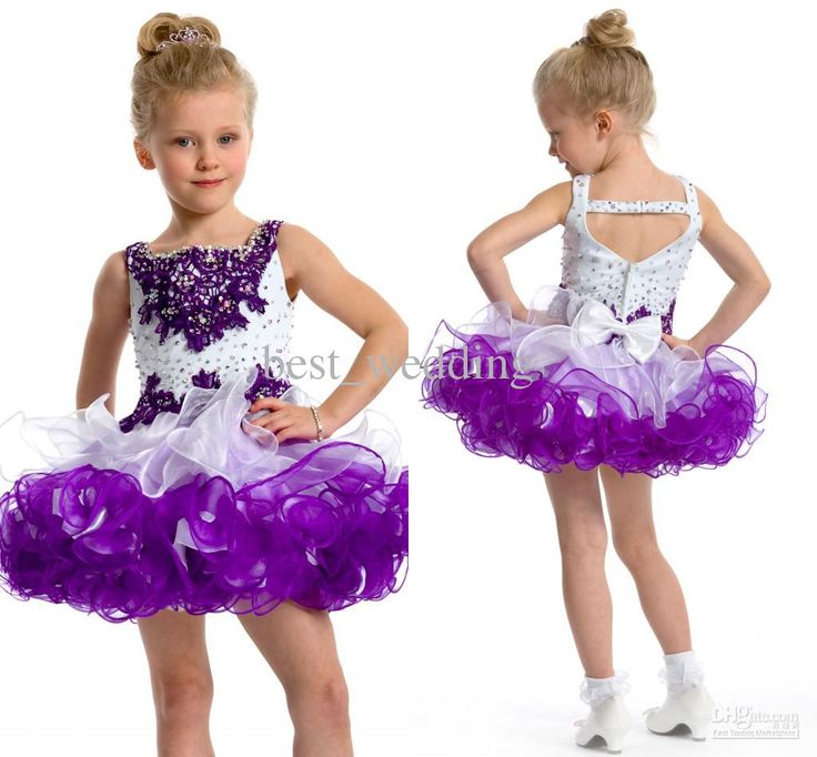 Wholesale Gorgeous white and purple bead cute flower girl dress toddler pageant dress little girl party dress, Free shipping, $65.4-89.68/Piece | DHgate