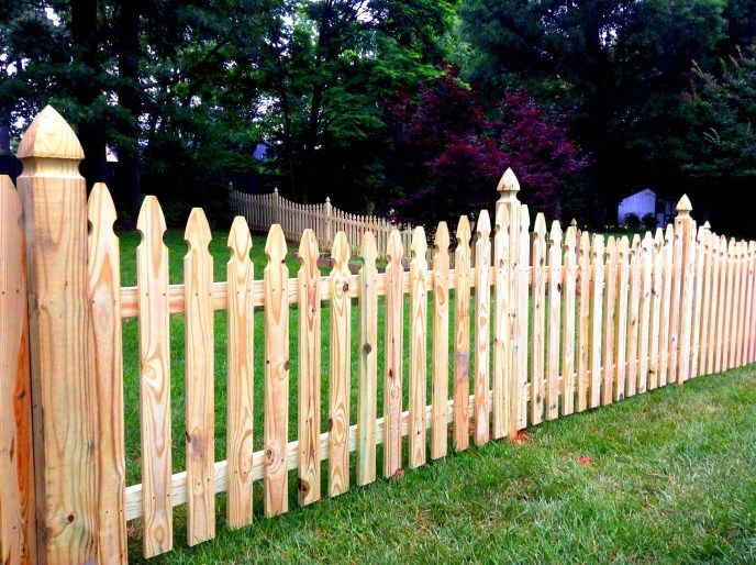 Scalloped Picket Fence Picket Fence Design Ideas Low Level Fence