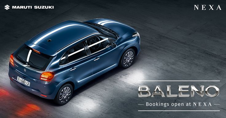 #Baleno - Bookings Open at Nexa!  Dial 1800 200 6392 (toll free) to make enquiries or Pre-book at one of the NEXA showrooms.