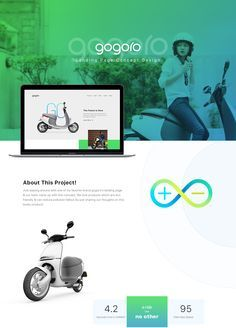 Gogoro landing page concept on Behance