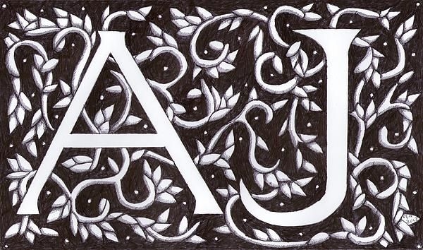 ANNA JANE Initials