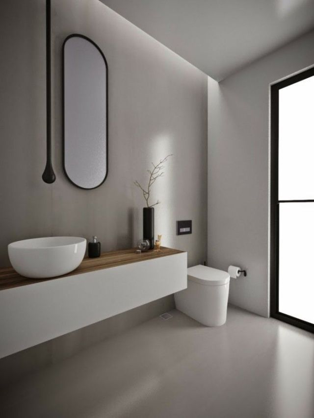 1001 Ideas For A Bathroom Without Tiles Very Creative Minimalism Free Cheap And Easy Tips For Living A Minimalist Lifestyle Trendy Bathroom Tiles Bathroom Wall Tile Small Bathroom