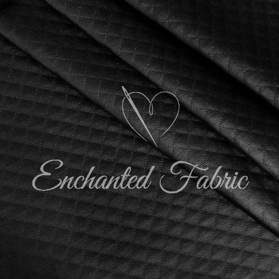 Black Diamond #Quilt #Faux #Leather #Fabric for by #EnchantedFabric - Style 1500 Black @ EnchantedFabric.Etsy.com