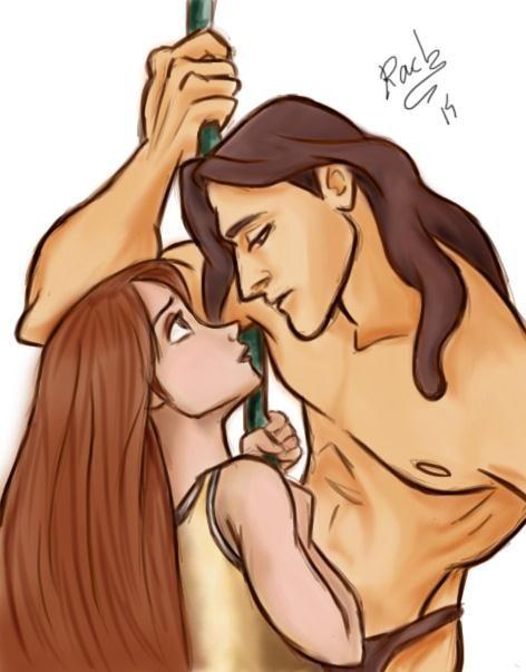 Tarzan And Jane Sketch by AnimeFanS2 on deviantART