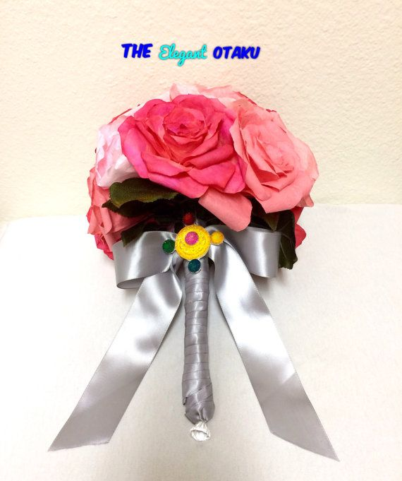 Custom sailor moon wedding bouquet custom by TheElegantOtaku
