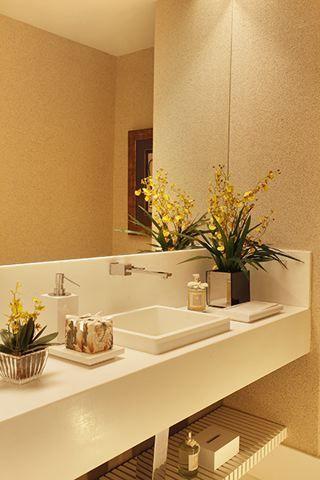 Cobertura de temporada RS - São Conrado / Roberta Devisate @robertadevisate #lavabo #lavatory #restroom #bathroom #lighting