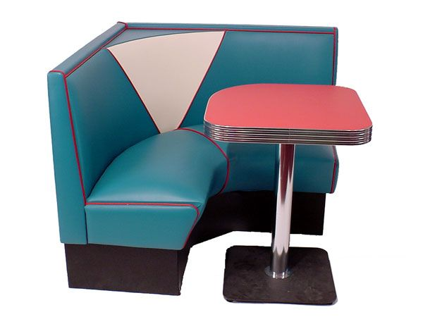 Modern And Cool Corner Bench Kitchen Set In Smaller Size And In Dominant  Blue A Modern