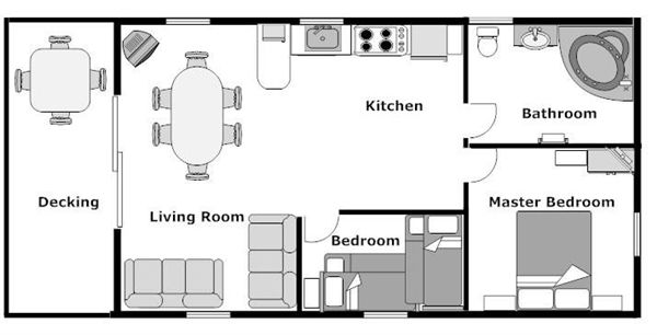 Tiny Home Designs: 12X32 Cabin Floor Plans Two Bedrooms