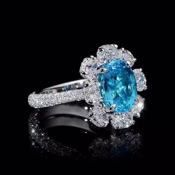 Dehres. An incredible gift from Mother Nature. A 4 carat Brazilian Paraiba Tourmaline.