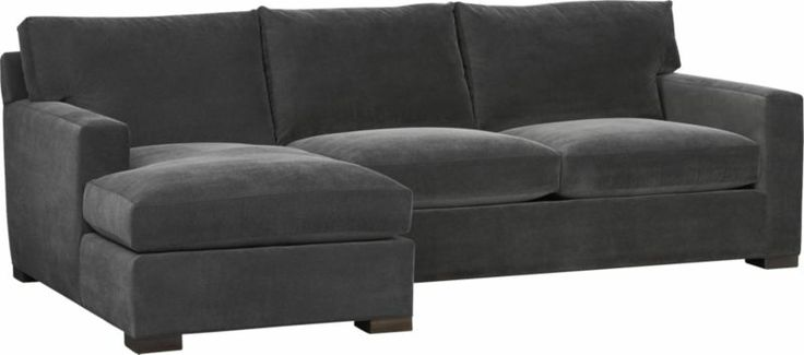 axis ii 2piece sectional sofa crate and barrel this shape if not this style for the upstairs family room vermont decor pinterest crates barrels