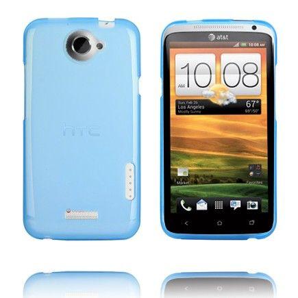 TPU Shell (Transparent Lys Blå) HTC One X Cover