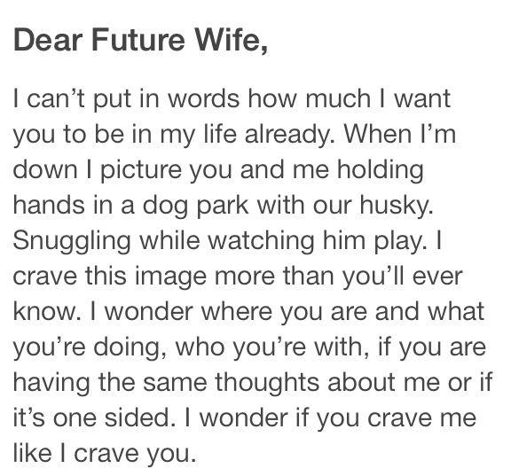 dear future wife quotes - photo #3