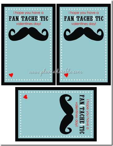 Valentine's Day Printable Cards Mustache in Chic and Crafty, Crafts, Freebies, Valentine's Day