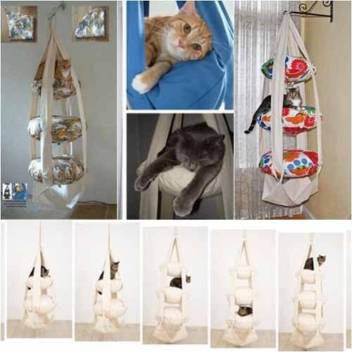 cucha hamaca colgante para gatos