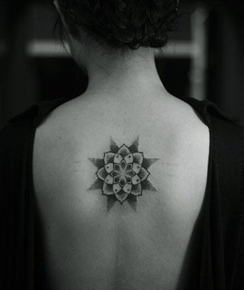 symmetrical star tattoo
