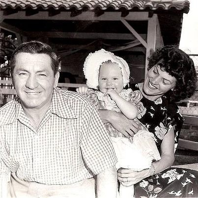 """Curly"" Howard (of the Three Stooges) and his family. Such a good picture of him! He was my favorite Stooge. :)"
