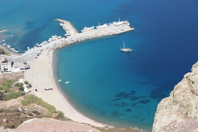The Kamari Beach in Kefalos on the island of Kos in Greece