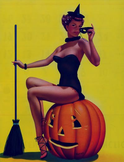 pin up witch by Bill Layne, 1966