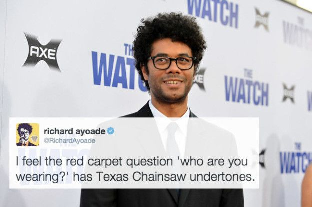 When he critiqued the media in the best way.   21 Times Richard Ayoade Was Actually Hilarious On Twitter