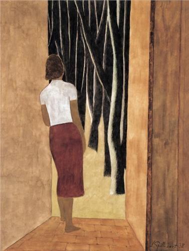 Léon Spilliaert , De open deur - La porte ouverte (1938) , 1881-1946 , , Belgian School
