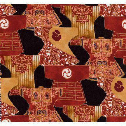 Robert Kaufman Fabrics: EUM-5279-6 ANTQ from Oriental Traditions 3
