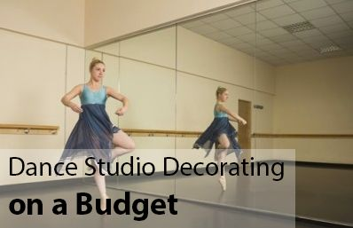 Dance Studio Decorating Ideas on a Budget: If you need some inspiration for decorating a #dancestudio on a tight budget, check out these creative ideas: https://web.tututix.com/dance-studio-decorating-ideas-on-a-budget/