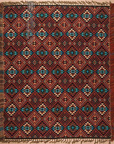 11 Southwestern blankets that will bring Santa Fe into your home:  Southwest Jacquard Throw Blanket 50x60 -Sierra