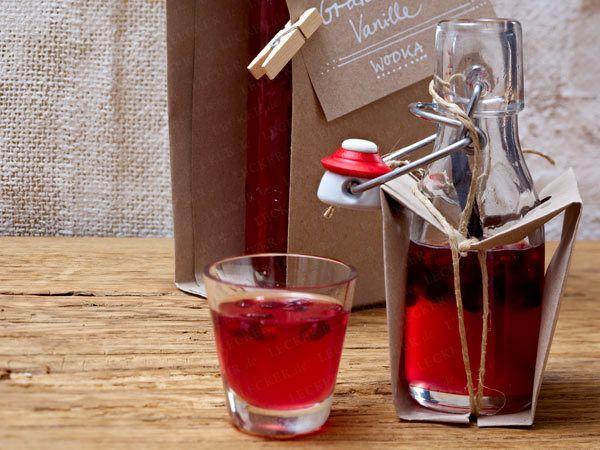 Granatapfel-Vanille-Wodka