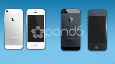 iPhone mock-up 4in1 - Stock Footage | by botiordog