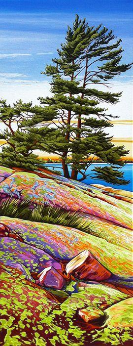 """Sunset on Lichen Covered Rock"" by Margarethe Vanderpas"