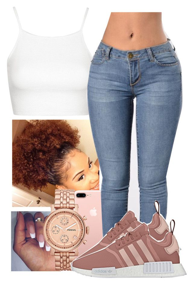 """""""Downtown Atlanta Vibes"""" by guwapshawty ❤ liked on Polyvore featuring Topshop and FOSSIL"""