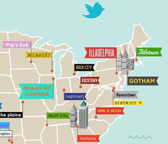 Map Of The Us By Twitter