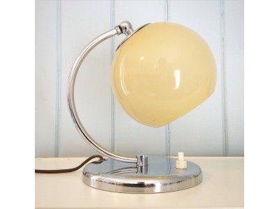 Art deco bedside lamp. www.hellans.no
