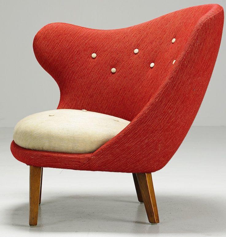 """192. Arne Norell, """"tummen"""", Armchair.  € 3 200-4 300. Stockholms Auktionsverk. Barnebys"""