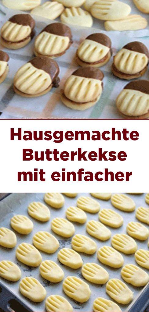 Hausgemachte Butterkekse mit einfacher Zubereitung und Lecker Geschmack!