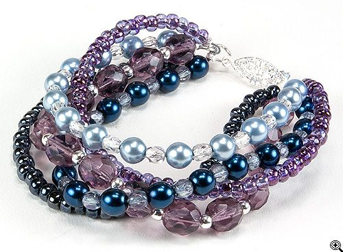 Jewelry Making Idea: Magestic Dreams Bracelet (eebeads.com)