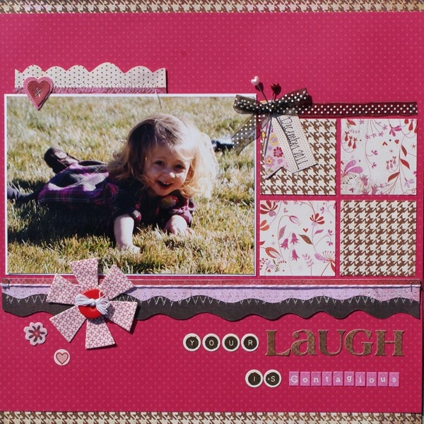 your laugh is contagious  1 photo + grid: Scrapbook Ideas, Scrapbook Layouts, Craft, Photo Layout, Grid Layout, Scrapbooking Ideas, Scrapbooking Layouts