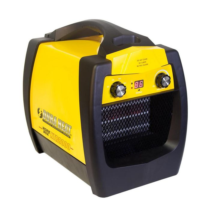 5200 BTU Electric Workbox Portable Heater/Fan, Yellow And Black