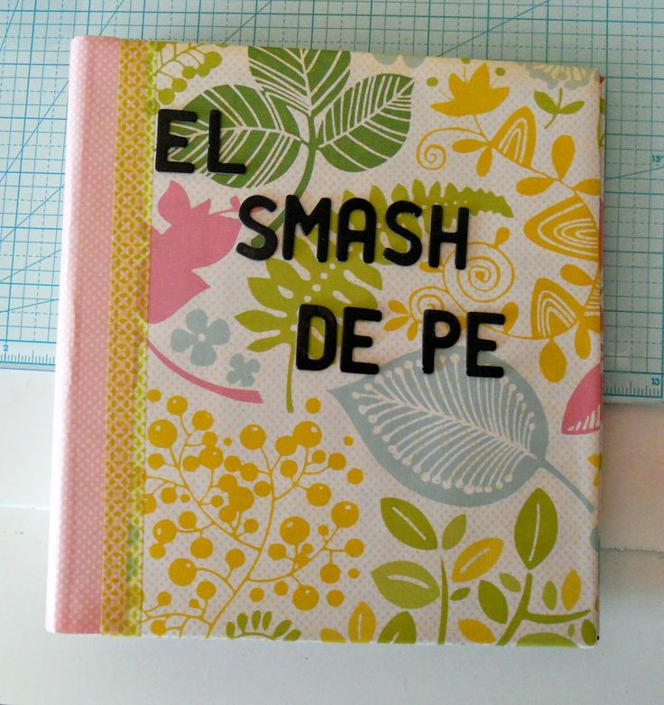 Smash book tutorial #scrapbooking #smash vía Mad Scrap Project