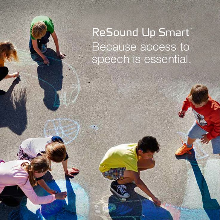 ReSound Up Smart Because access to speech is essential.  Visit resound.com/en-AU/hearing-aids/up-smart